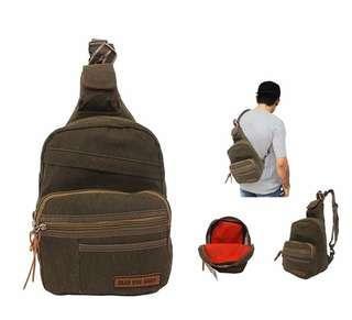 Tas Selempang / waist bag gear bag. 39 x 21 x 12 cm. Kanvas. Barang dijamin sesuai gambar. Idr 68000