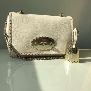 04e3e7b49579 Mulberry Lily cookie pebbled beige shoulder bag