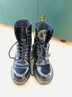 Dr. Martens patent leather boots