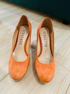 Staccato orange heels