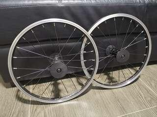 "16"" 355 alexrims wheelset"
