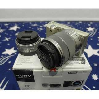 【出售】SONY NEX-5 香檳金 微單眼相機 雙鏡組