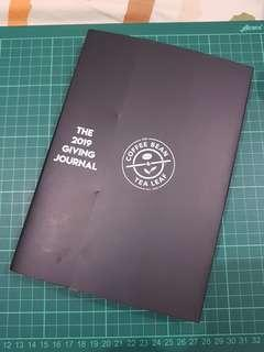 Coffee Bean and Tea Leaf (CBTL) The 2019 The Giving Journal - Black