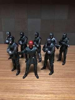 Marvel legends 10th red skull hydra soldiers 8pcs