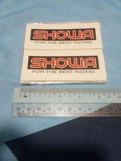 Showa absorber transparent stickers