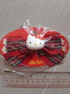 hello kitty 吉蒂貓 紅色 蝴蝶 1995 絕版 髮夾 髮飾 日本製 聖誕 生日 交換 禮物