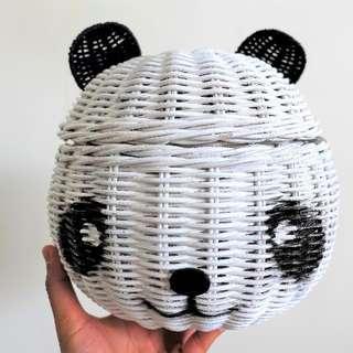 Panda Handmade Natural Rattan Basket