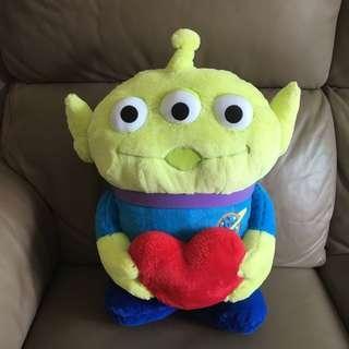 Disney Toys Story Aliens 三眼仔 攬住心心 大公仔 (高42cm)