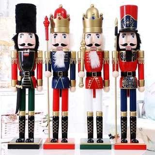 限量 訂造🎄2018 聖誕手繪胡桃夾子大士兵木偶公仔 餐廳酒店家具 擺設 裝飾 禮物 Large Christmas Nutcracker decoration 60cm  ( 一個)