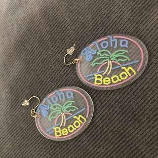 🚚 beach aloha耳環