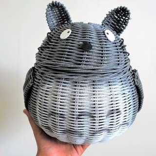 Totoro Handmade Natural Rattan Basket