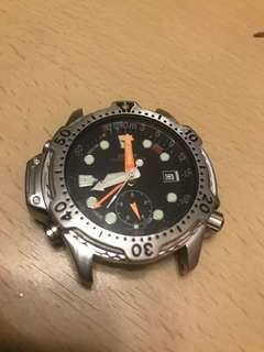 Citizen 星辰絶版舊莊電子潛水錶Diver