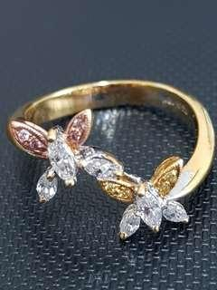 Marquise Diamond Butterfly Ring