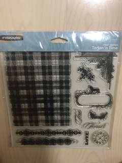 Fiskars tartan 'n time clear acrylic stamps