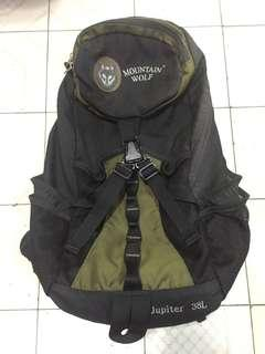 Mountain Wolf Backpack 黑色 綠色 背囊