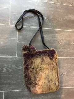 兔毛斜咩袋