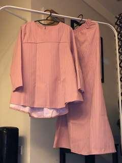 Pastel Pink Kurung