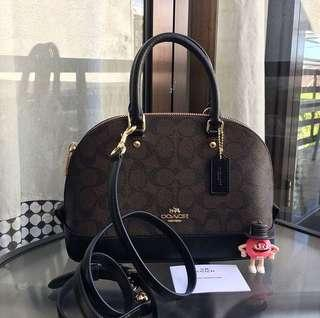 100% Authentic Coach Mini Sierra in Signature