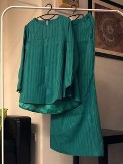 Emerald Green Kurung