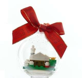 Lego Christmas snow hut Ornament