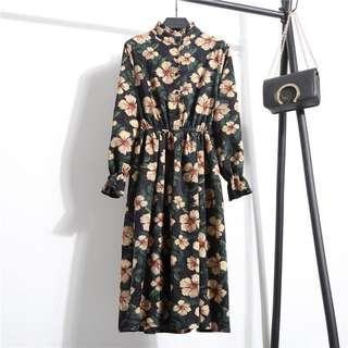 Korean ulzzang floral dress