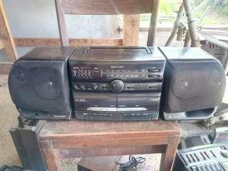 Vintage SHARP WF 930 Boombox
