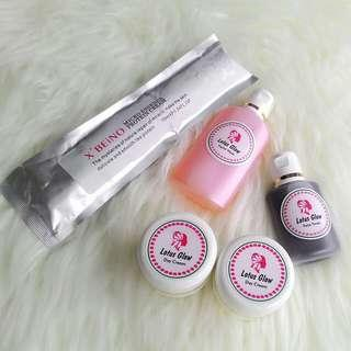 paket lotus glow plus serum x beino