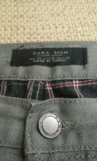 🚚 西班牙 ZARA 灰色低腰修身牛仔褲 32 33 501 522 505 Superdry