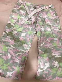 PL OP Army print 3/4 pants #Next30