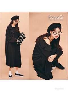 🚚 黑色長版外套