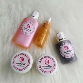 paket lotus glow+serum gold