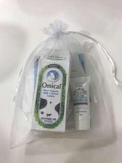 Omical calcium tablet and skin balm