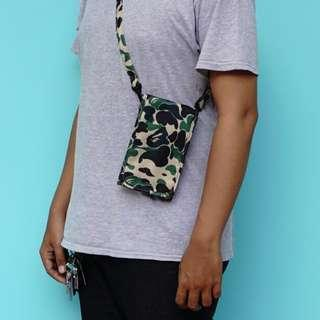A BATHING APE MULTI PURPOSE CAMOUFLAGE SLING BAG