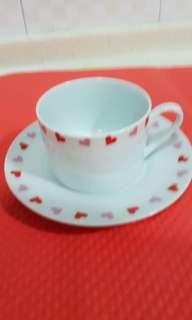 Red Hearts Cup/Saucer Set
