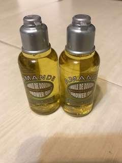 🚚 歐舒丹杏仁沐浴油35ml 2瓶