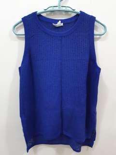 Club Monaco size L vest 藍色背心
