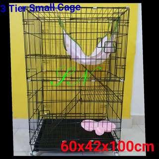 Cat Cage Rabbit Cage Kitten Cage Birds Cage Poppy Cage  3 Tier  Pet cage, not cat condo tree sctracth pole  cat litter food bowl