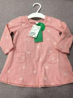 H&M baby girl pink dress 6-9M