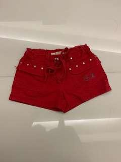 Fox kids red shorts (size 12)