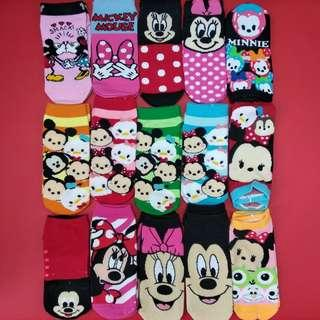 Disney mickey and minnie socks 迪士尼米奇米妮純棉短襪