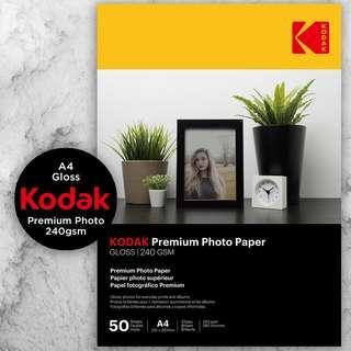 Kodak Premium Photo Paper - Gloss 240gsm