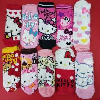 Sanrio Hello Kitty socks 三麗鷗吉蒂貓珊瑚絨短襪