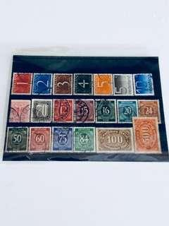 Mixed World Numbers Stamps