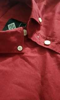 Cotton On Red Long Sleeves Polo
