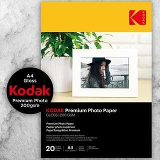 Kodak Premium Photo Paper - Gloss 200gsm