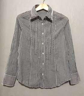 Striped Grey Formal Shirt