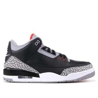 US 7.5 Nike Air Jordan 3 Black Cement f224e2873