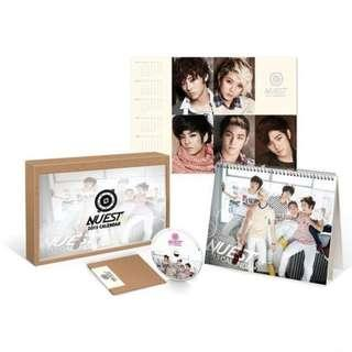送順豐智能櫃《NUEST韓版官方 2013月曆》PRODUCE 101 Wanna One 黃珉泫 Aron 白虎 Ren JR 全新密封包裝
