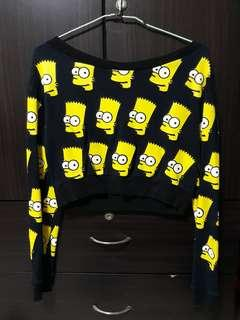 🚚 Bart Simpson Cropped Pullover