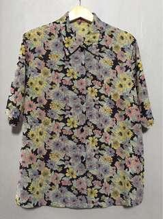 Floral Oversized Vintage Top